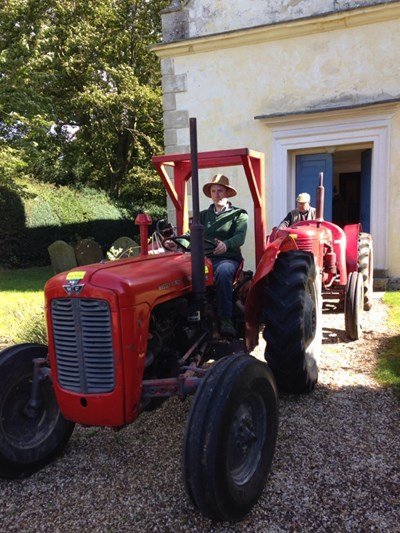 Two vintage tractors in Oxfordshire at St Katherine, Chiselhampton (Tom Peers)
