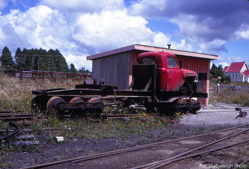 Loco at Mamaku mill Jan 1970
