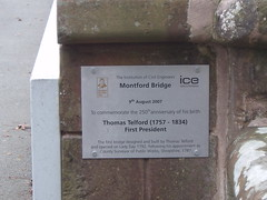 Photo of Thomas Telford brushed metal plaque