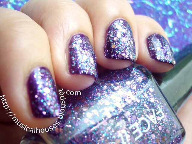 face shop nail polish pp409 barry m vivid purple 2