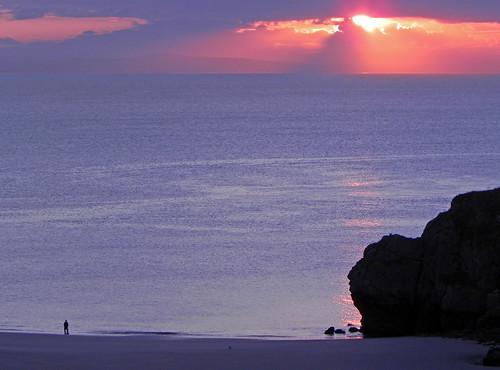 uk sea sun beach wales clouds sunrise coast pembrokeshire tenby akwsn
