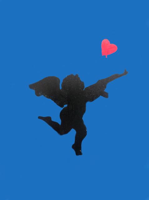 Graffiti Stencil Of Cupid- Photoshopped
