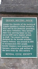 Photo of Francis Webster and George Fox green plaque