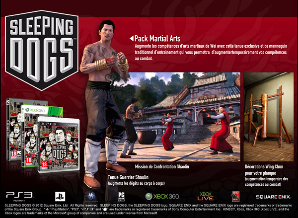 Sleeping Dogs - Pack Martial Arts