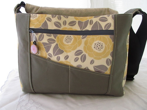 Handmade Messenger Book Bag - Southern Belle009 - Copy