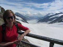 Annemarie at Jungfraujoch