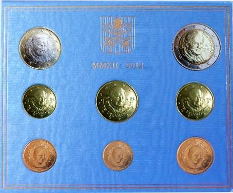*Oficiálna sada 8 Euro mincí Vatikán 2012