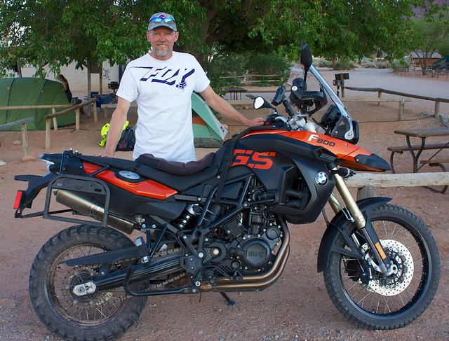 Calvin and his F800GS