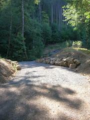 The first CZ haul road washout has a bridge again