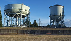 storage tank, water tower, silo, electricity,