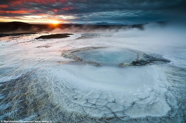 Geothermal activity in Hveravellir, central highlands of Iceland