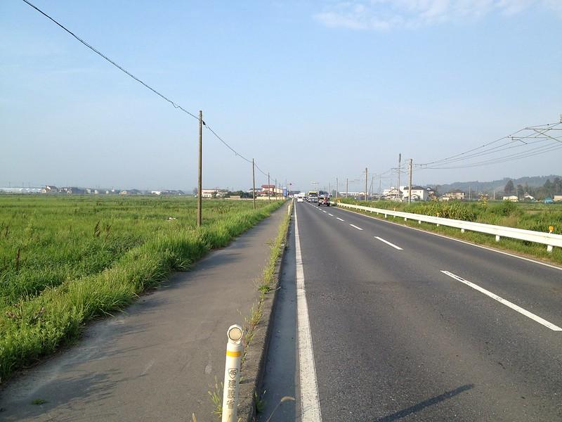 松島へ向かう道