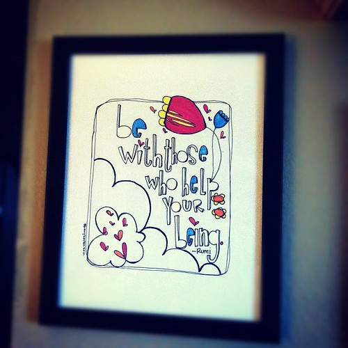 rumi wisdom on my wall :: art by @kellybarton (download yours free at <a href=
