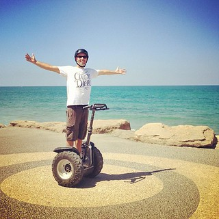 Ladies and gentlemen, the one and only: @croyable. He couldn't be more wonderful, or in a more thematically appropriate shirt. #Segway #Israel #TelAviv #israelhd