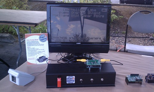 VideoOverlayShield demo at Portland Maker Faire 2012