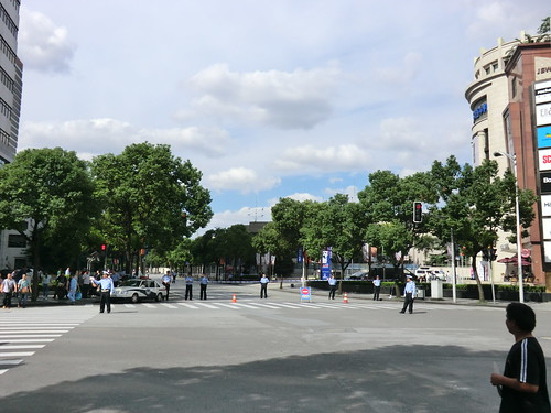 在上海日本国領事館周辺