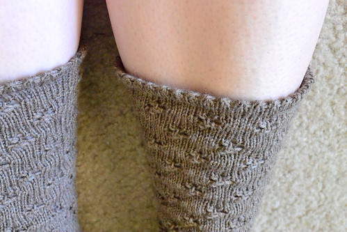closeup eyelet sock