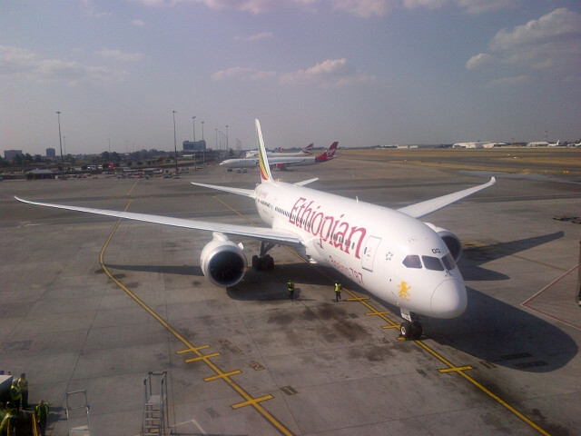 Ethiopian's 787 in Johannesburg recently
