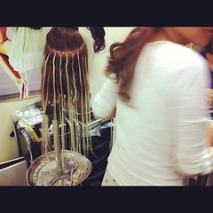 Student learning double ring-tip #hairextensions