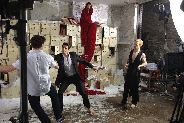 On the set for the Winter Season One Extraordinary World shoot © Hannah Crosby 2012