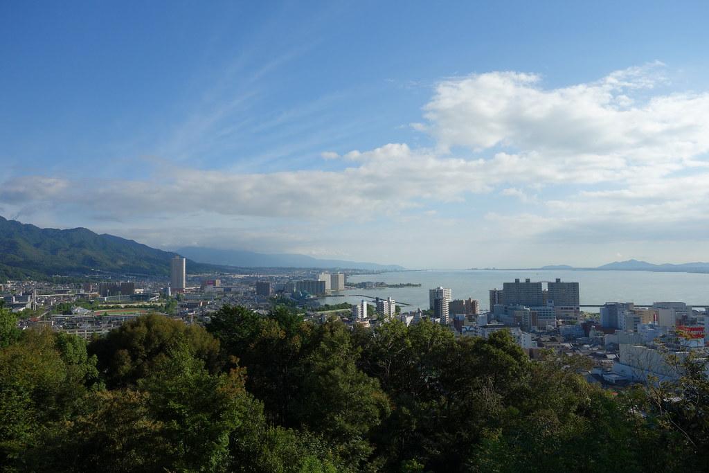 長等公園からの琵琶湖