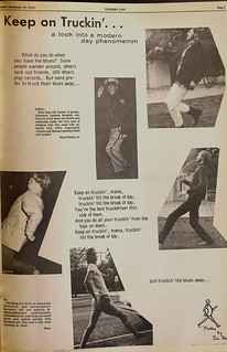 "Page on ""trucking"" from a 1970 issue of The Student Life"
