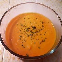 carrot(0.0), vegetable(0.0), tarhana(0.0), calabaza(0.0), produce(0.0), fruit(0.0), cucurbita(0.0), bisque(1.0), food(1.0), dish(1.0), soup(1.0), cuisine(1.0),