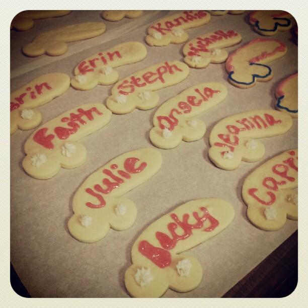 Bachelorette cookies.