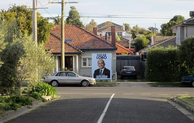 Local council election billboard