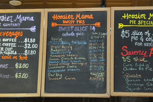 Hoosier Mama Pie menu