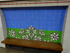 Vauxhall Station tiled artwork