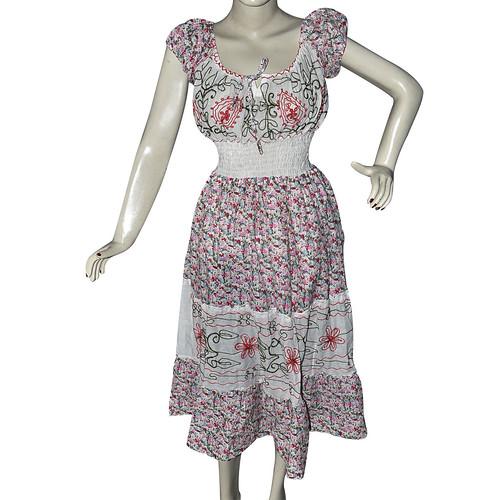 Bohemian Style Cotton Dress Frock