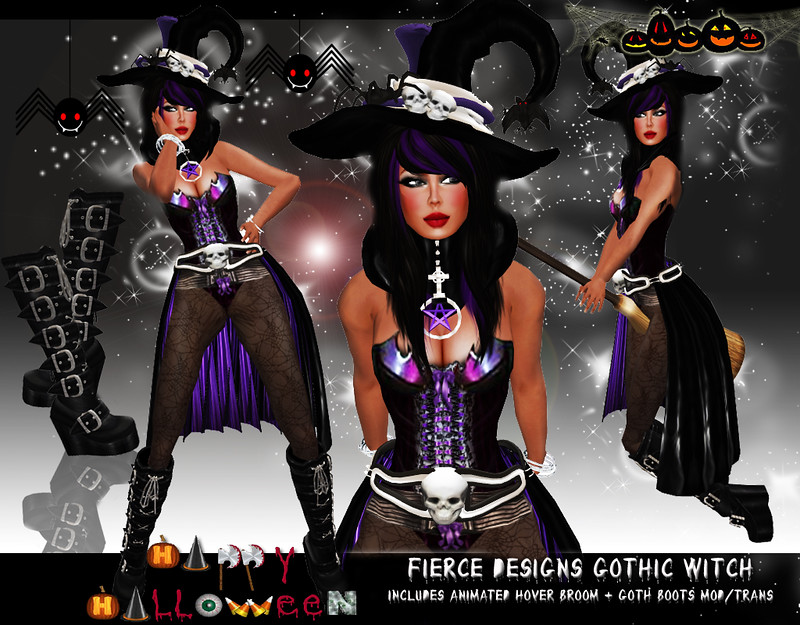 Gothic Witch Purple by Fierce Designs