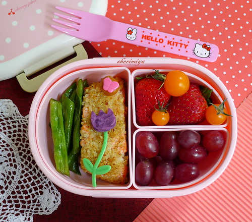 Quinoa-Crusted Salmon Bento by sherimiya ♥