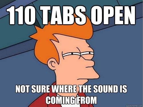 Futurama 110 tabs open