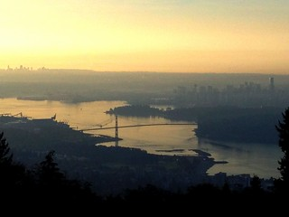 Downtown Vancouver from cypress lookout point