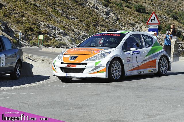 """Pedro David Perez, Peugeot 207 s2000. Rallye Sierra de cadiz 2012"""