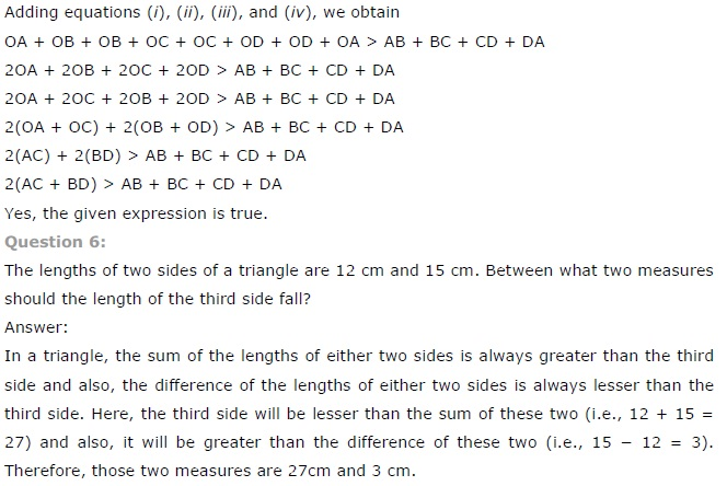 NCERT Solutions for Class 7th Maths Chapter 6 The-Triangle-and-its-Properties Exercise 6.4