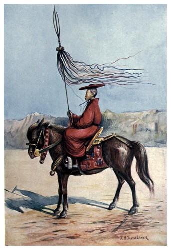 017-Un lama abanderado-Tibet & Nepal-1905-A. H. Savage-Landor