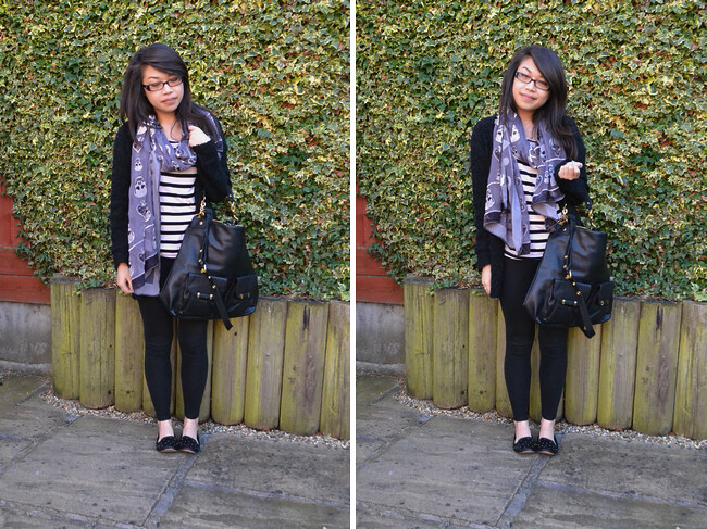 daisybutter - UK Style and Fashion Blog: what i wore, ootd, wiwt, casual chic, marc b, topshop, h&m, river island, smoking slippers