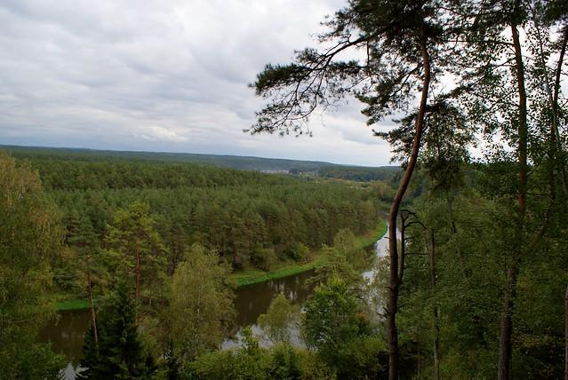 The Neris Regional Park in autumn