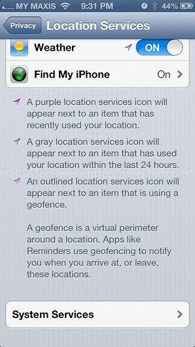 More Tracking in Location Services