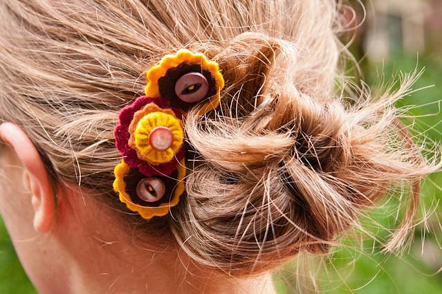 Fall hair clip
