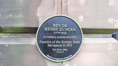 Photo of Henry Duncan black plaque