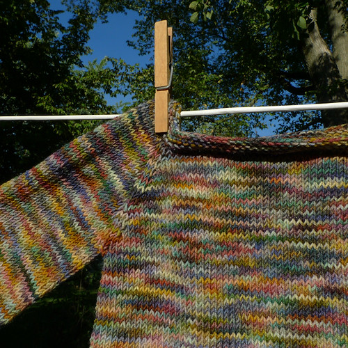 sock yarn sweater