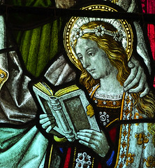 Blessed Virgin learning to read
