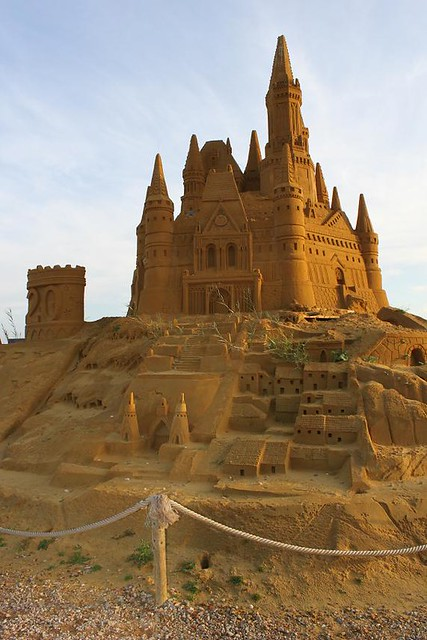 castle made of sand