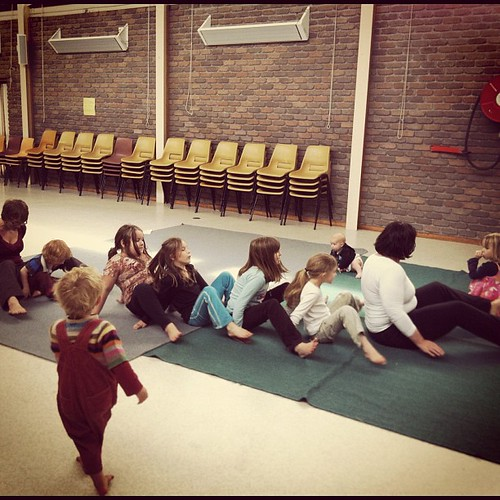 Yoga at co-op #yoga #coop #unschooling