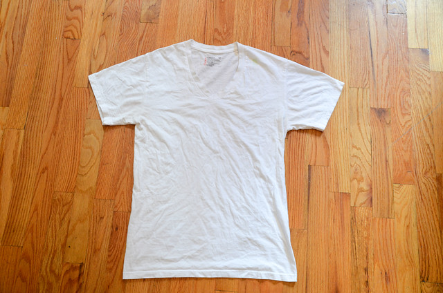 DIY White T-Shirt Refashion