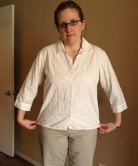 White Blouse Alteration - Before